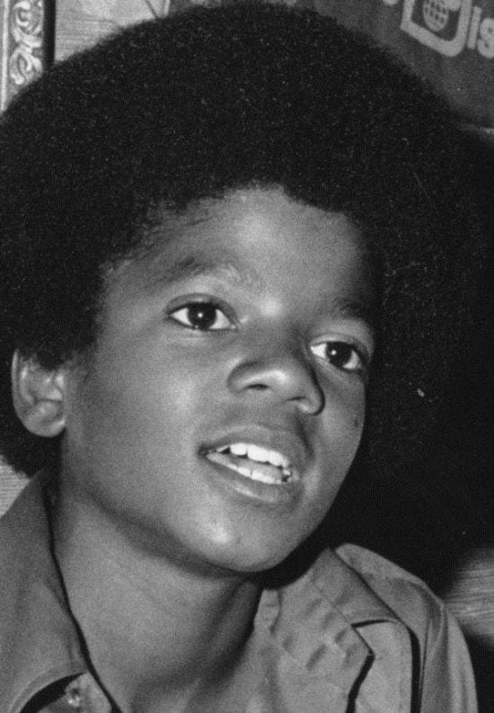 1972 – Michael Jackson at the age of 13 when he used to be the part of the Jackson 5.