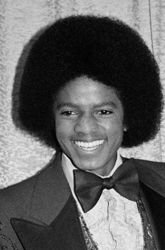 1977 – Michael Jackson seen in the American Music Awards held in 1977.