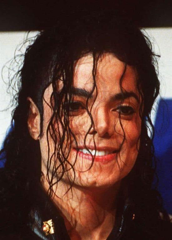 1992 – A modified look in 1992, Michael posing for a photograph in New York.