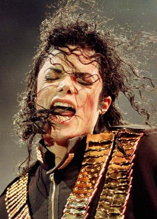 """1993 – A candid click from """"Dangerous"""" tour while performing in Singapore."""