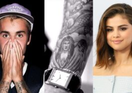 INKED As Justin Bieber does push-ups fans ecstatic to get a glimpse of ex Selena Gomez's tattoo on his arm